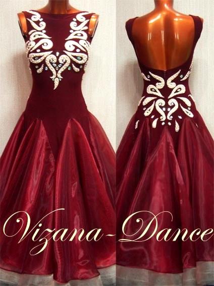 """Платье стандарт Юн-2 """"Марсала"""" Прокат-650 грн."""