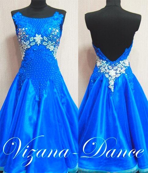 """Платье стандарт Юн-2 """"Ультрамарин"""" Прокат-450 грн."""