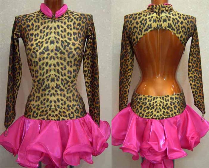 Латина ЮН-1 Визана-Данс платья для спортивных бальных танцев.