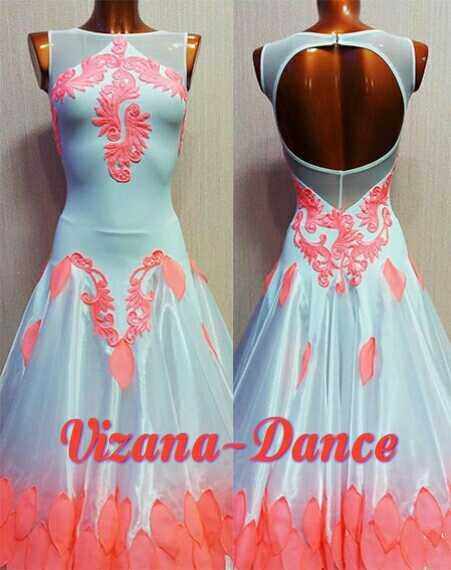 """Платье стандарт Юн-1 """"Розовый лепесток"""" Прокат-550 грн."""