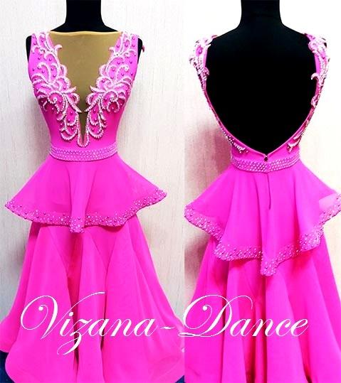 """Платье стандарт Юн-2 """"Волшебная фуксия"""" Прокат-750 грн."""